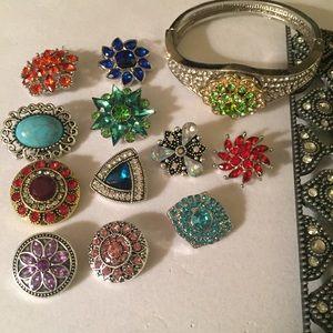 💎💖Stunning Rhinestone Snap Bracelet w/12 Snaps!